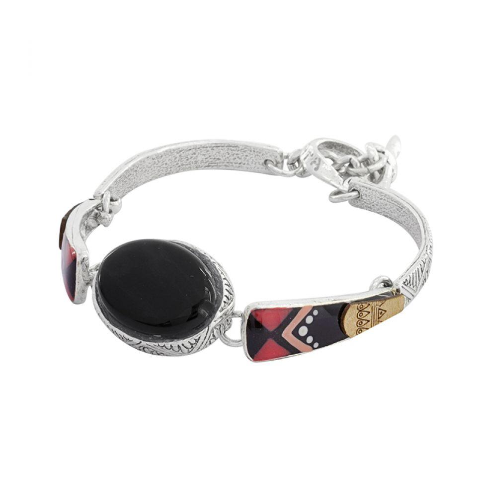 Bracelet Equivoque Argent Noir Taratata Bijoux Fantaisie en ligne 3