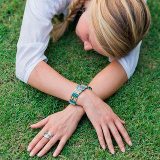 Bracelet Esperanza Argent Bleu