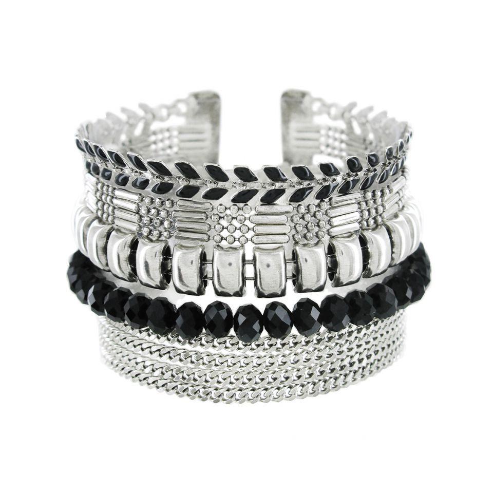 Bracelet Essentiel Argent Noir Taratata Bijoux Fantaisie en ligne 1