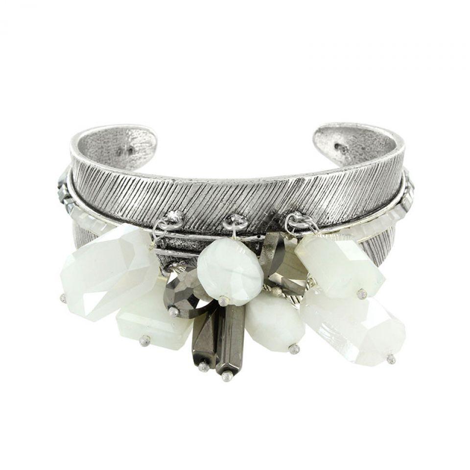 Bracelet Essentiels Argent Blanc Taratata Bijoux Fantaisie en ligne 1