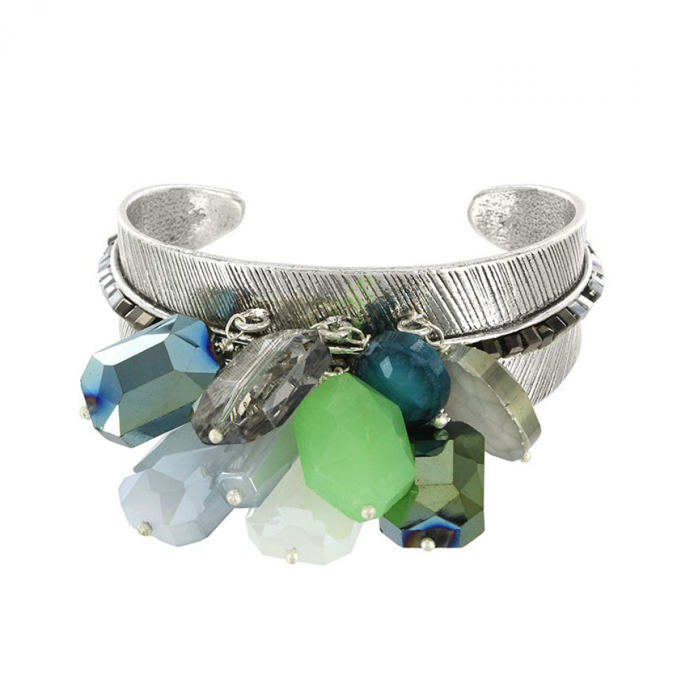 Bracelet Essentiels Argent Vert Taratata Bijoux Fantaisie en ligne 1