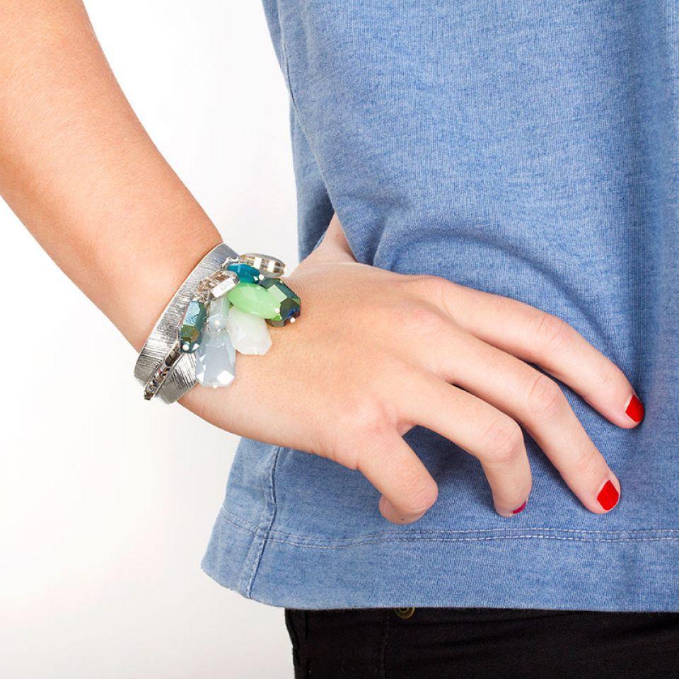 Bracelet Essentiels Argent Vert Taratata Bijoux Fantaisie en ligne 2