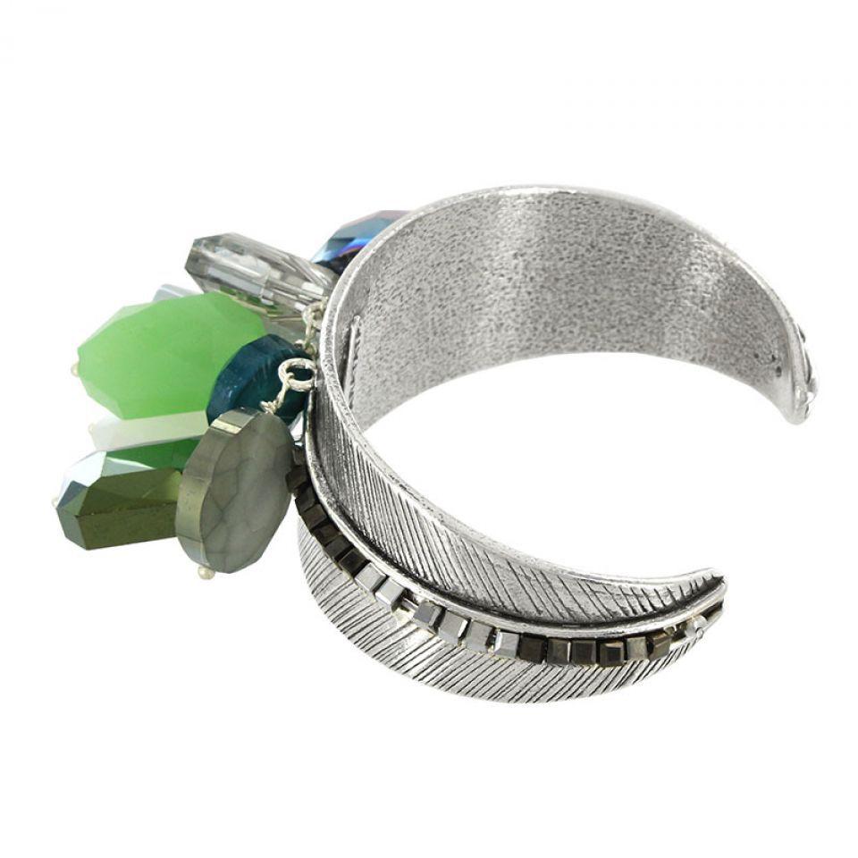 Bracelet Essentiels Argent Vert Taratata Bijoux Fantaisie en ligne 3