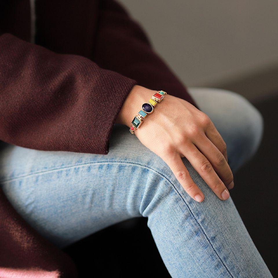 Bracelet Face A Face Dore Multi Taratata Bijoux Fantaisie en ligne 1