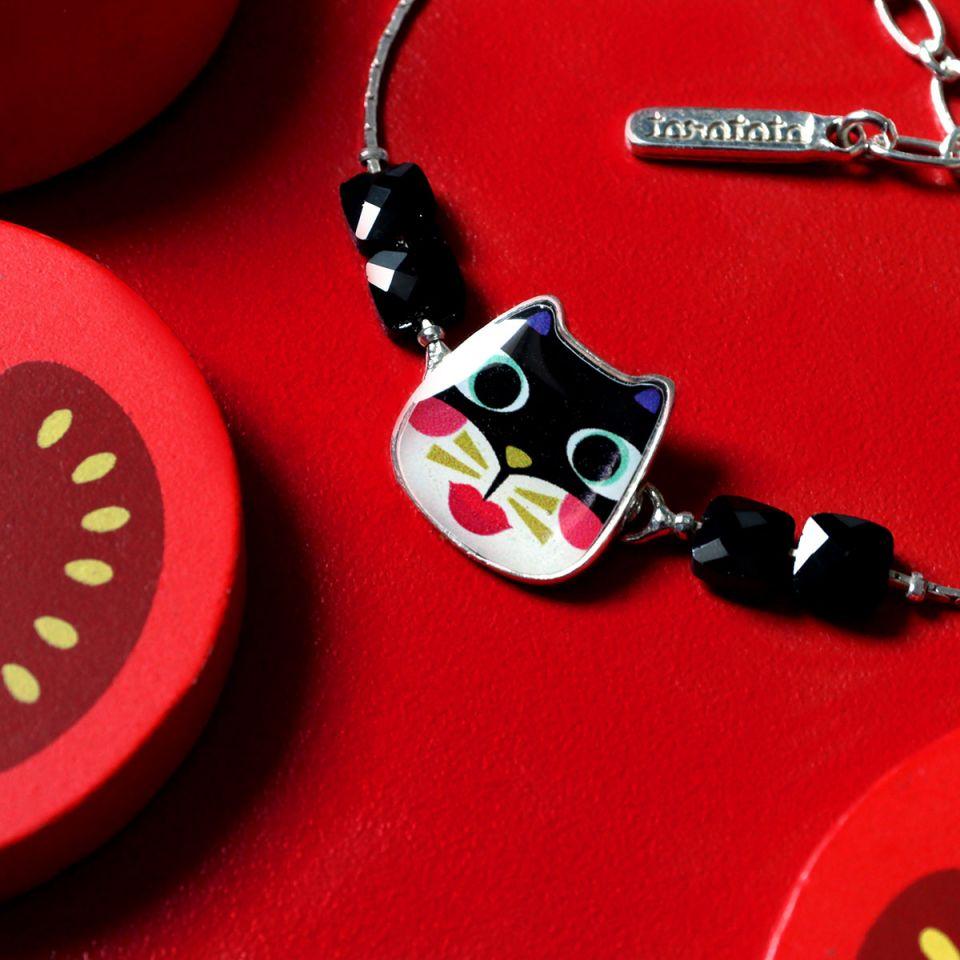 Bracelet Feline Couleur Argent Multi Taratata Bijoux Fantaisie en ligne 1