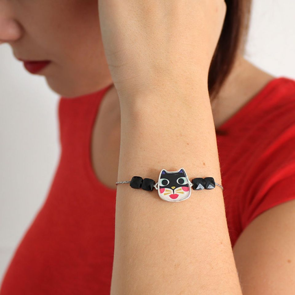 Bracelet Feline Couleur Argent Multi Taratata Bijoux Fantaisie en ligne 3