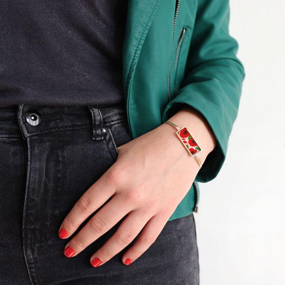 Bracelet Galerie Couleur Dore Rouge Taratata Bijoux Fantaisie en ligne 2