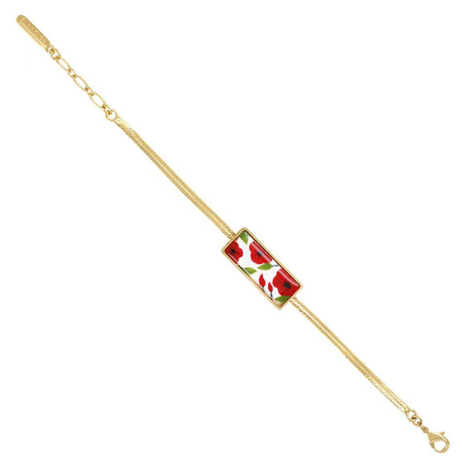 Bracelet Galerie Couleur Dore Rouge Taratata Bijoux Fantaisie en ligne 3