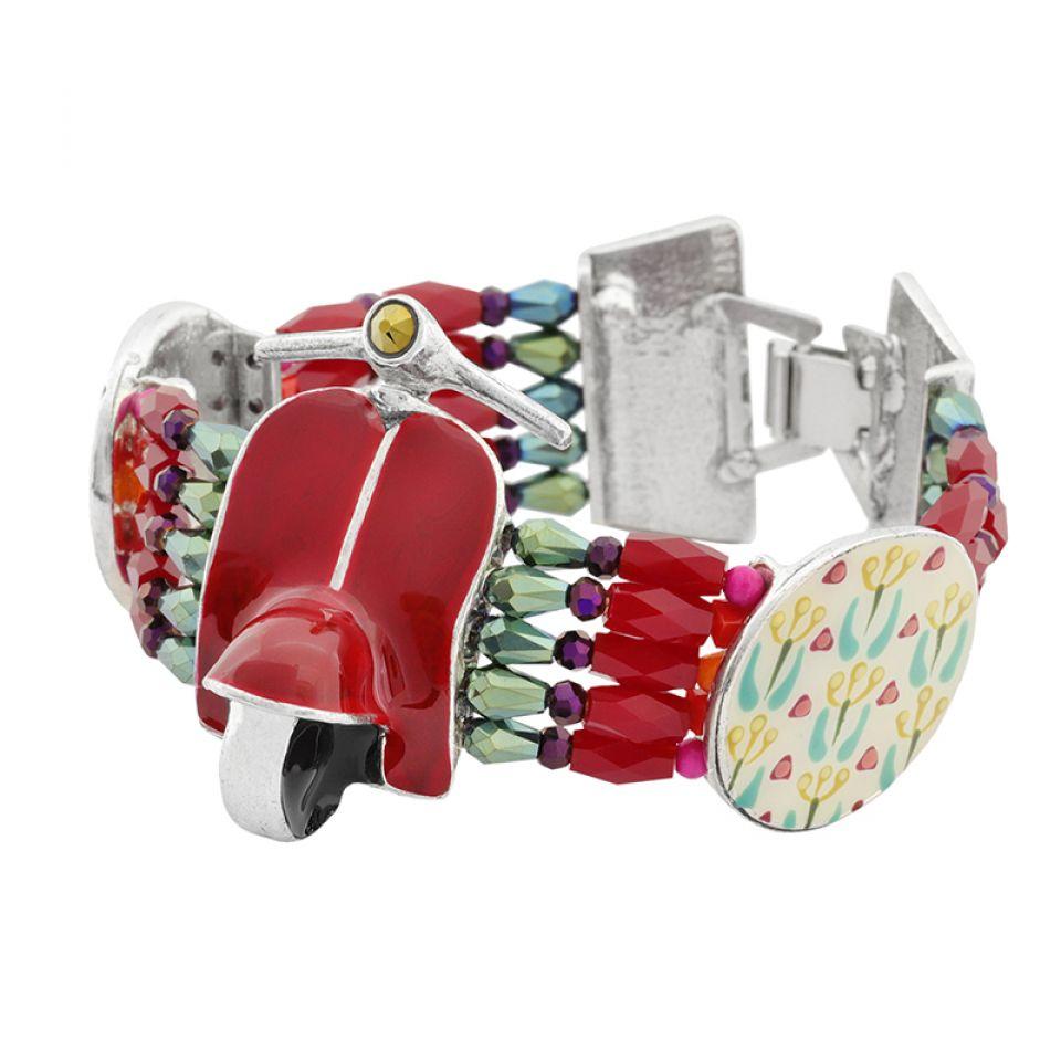 Bracelet Gina Argent Rouge Taratata Bijoux Fantaisie en ligne 1