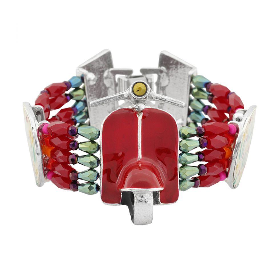 Bracelet Gina Argent Rouge Taratata Bijoux Fantaisie en ligne 3