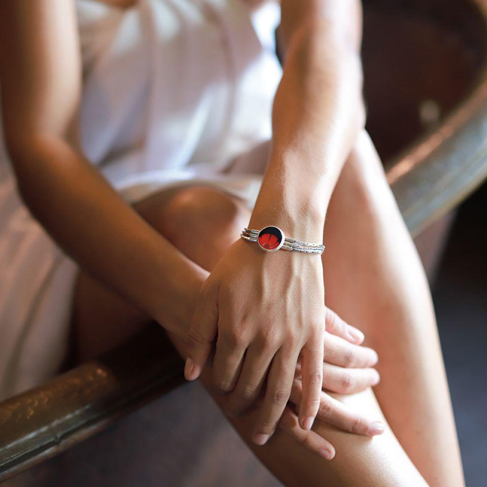 Bracelet Gombos Argent Rouge Taratata Bijoux Fantaisie en ligne 2