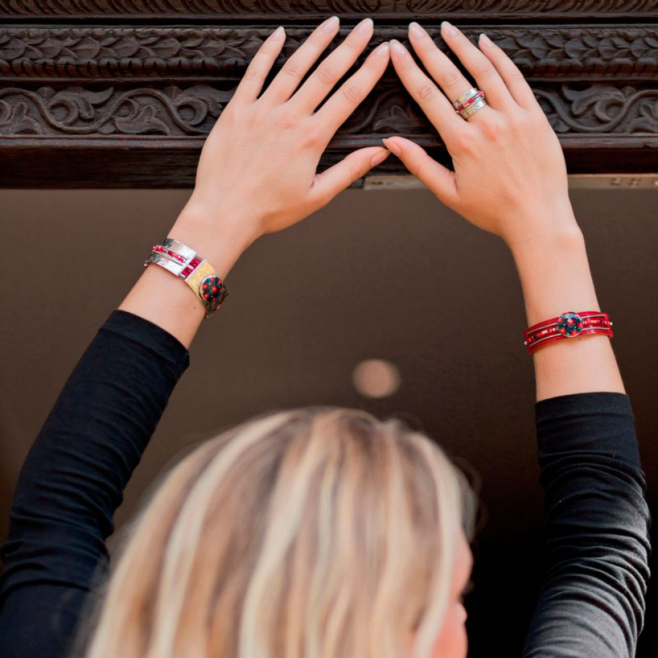 Bracelet Grenadine Argent Rouge Taratata Bijoux Fantaisie en ligne 2
