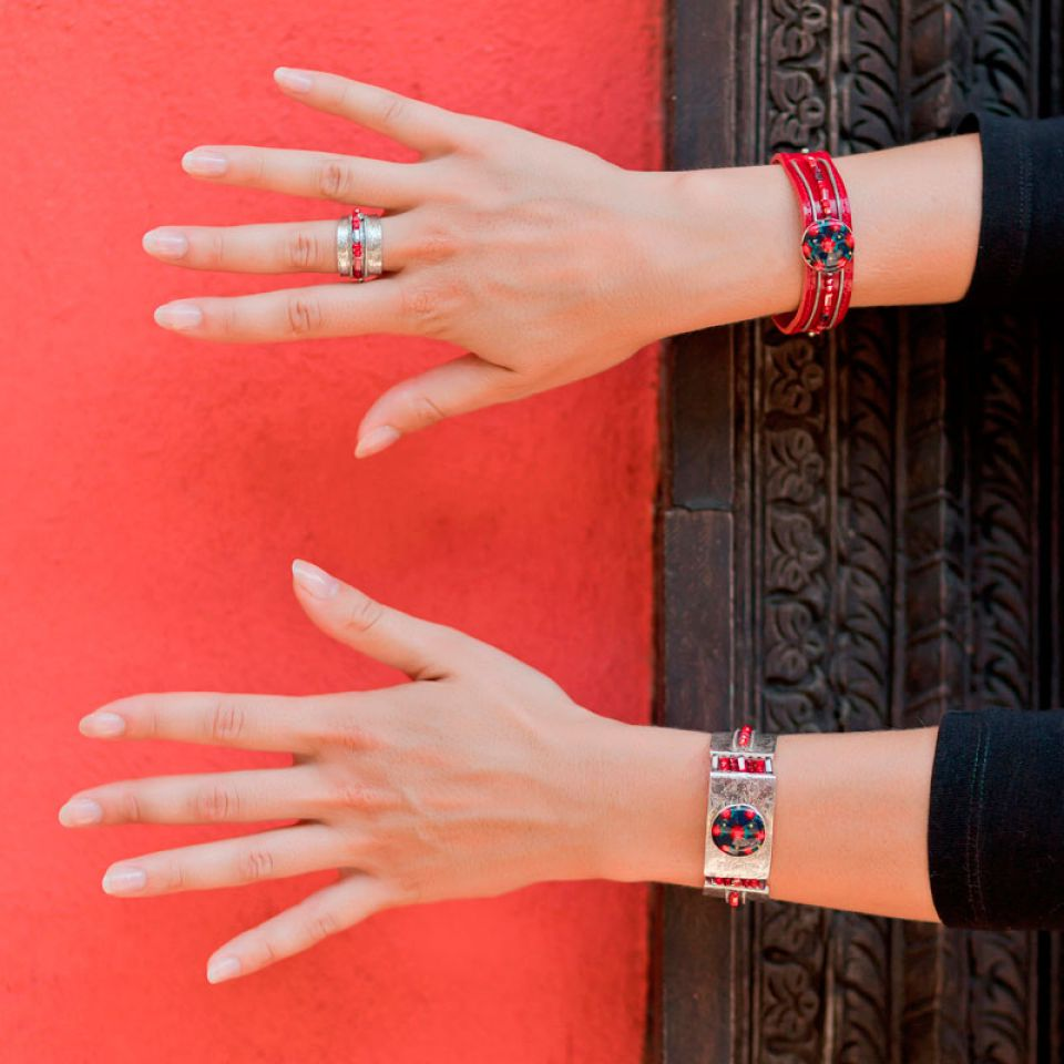 Bracelet Grenadine Argent Rouge Taratata Bijoux Fantaisie en ligne 3