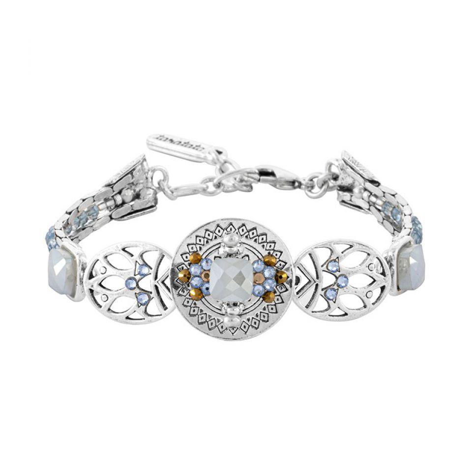 Bracelet Jivago Couleur Argent Bleu Taratata Bijoux Fantaisie en ligne 1