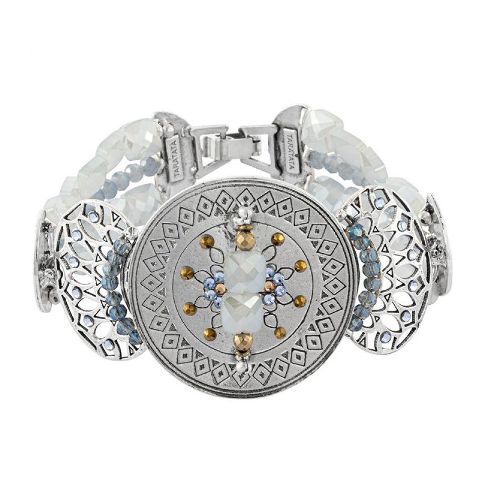 Bracelet Jivago Couleur Argent Bleu Taratata Bijoux Fantaisie en ligne 3