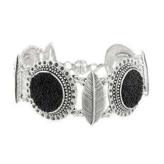 Bracelet Kabuki Argent Noir