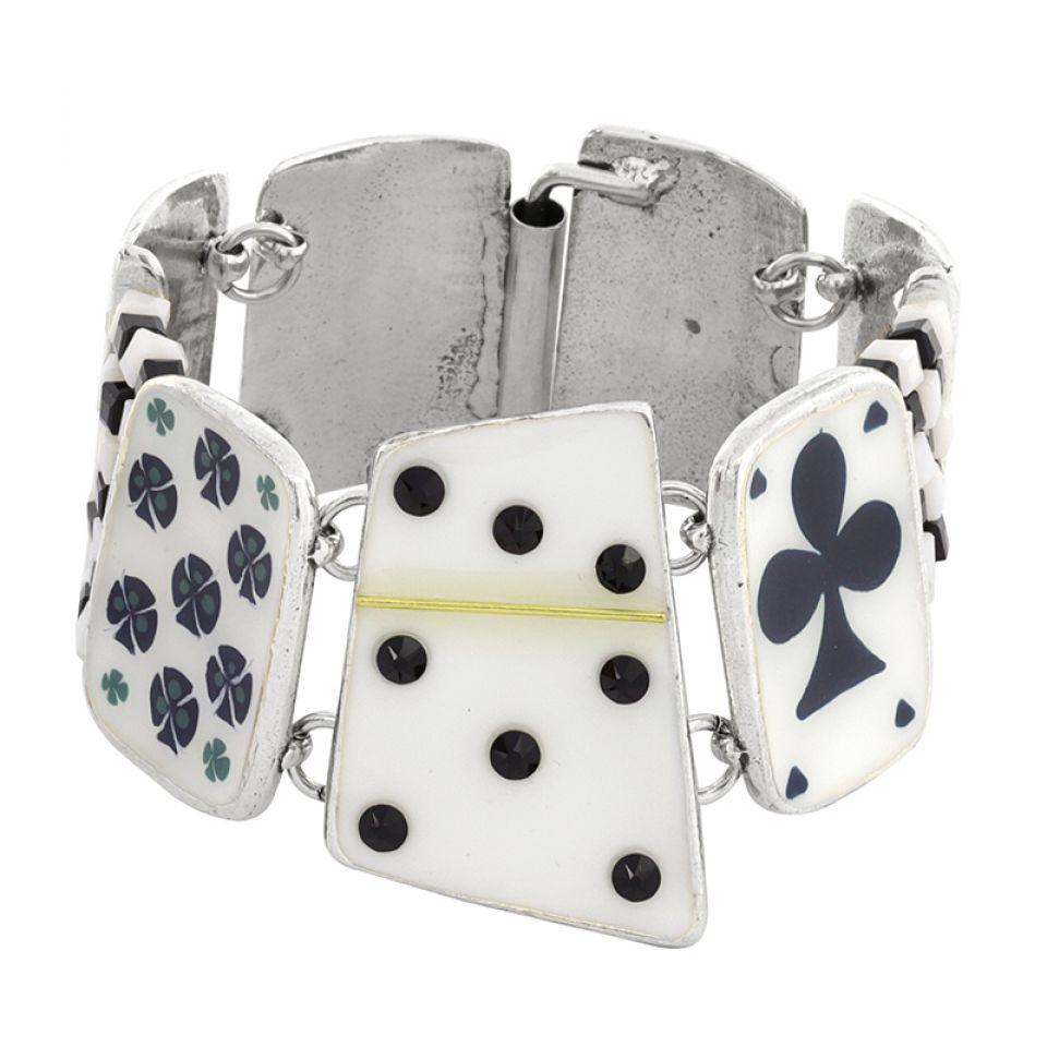 Bracelet L Impasse Argent Blanc Taratata Bijoux Fantaisie en ligne 3
