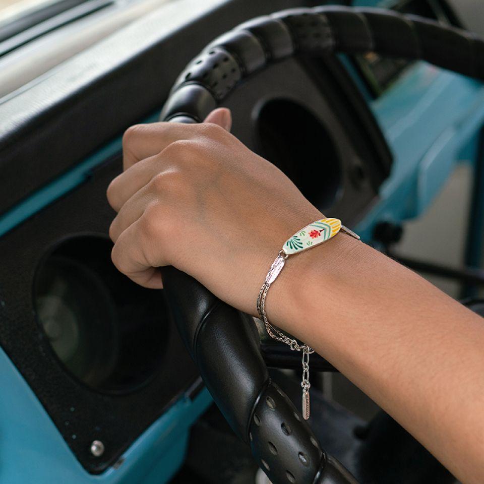 Bracelet La Vague Argente Multi Taratata Bijoux Fantaisie en ligne 2