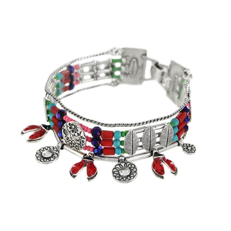 Bracelet Ladybird Argent Rouge Taratata Bijoux Fantaisie en ligne 2