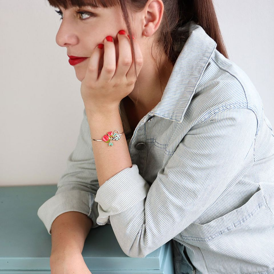 Bracelet Les Hollandaises Couleur Dore Multi Taratata Bijoux Fantaisie en ligne 1