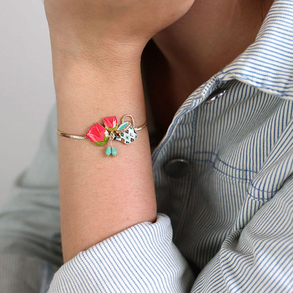 Bracelet Les Hollandaises Couleur Dore Multi Taratata Bijoux Fantaisie en ligne 4