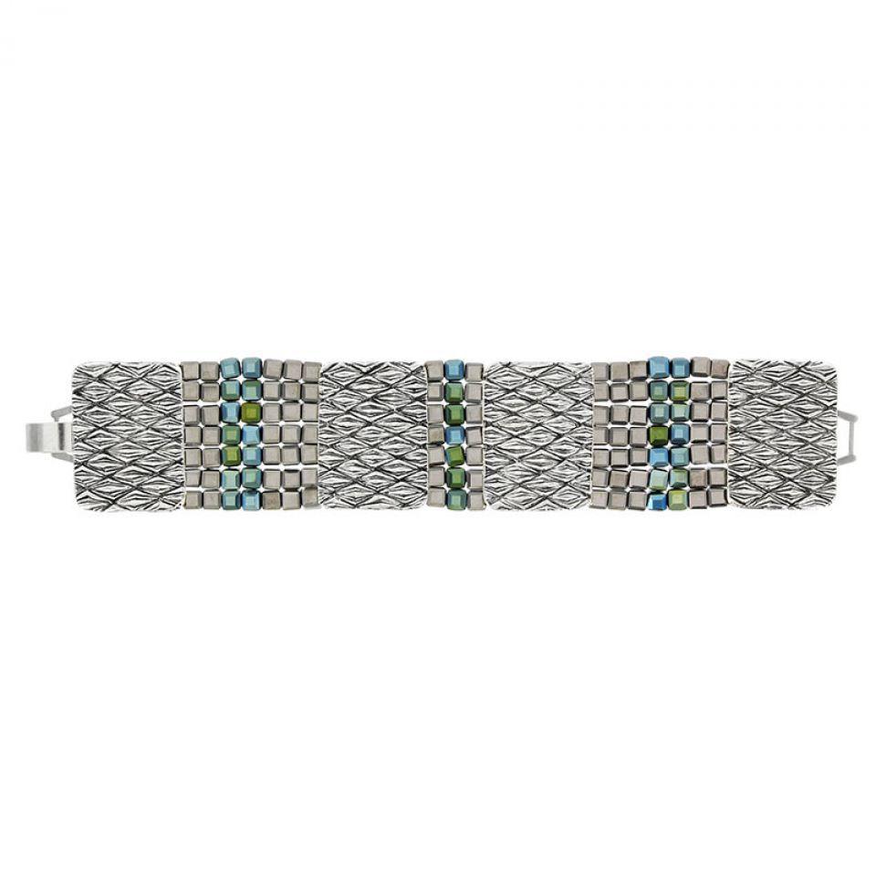 Bracelet Locomotive Argent Vert Taratata Bijoux Fantaisie en ligne 3