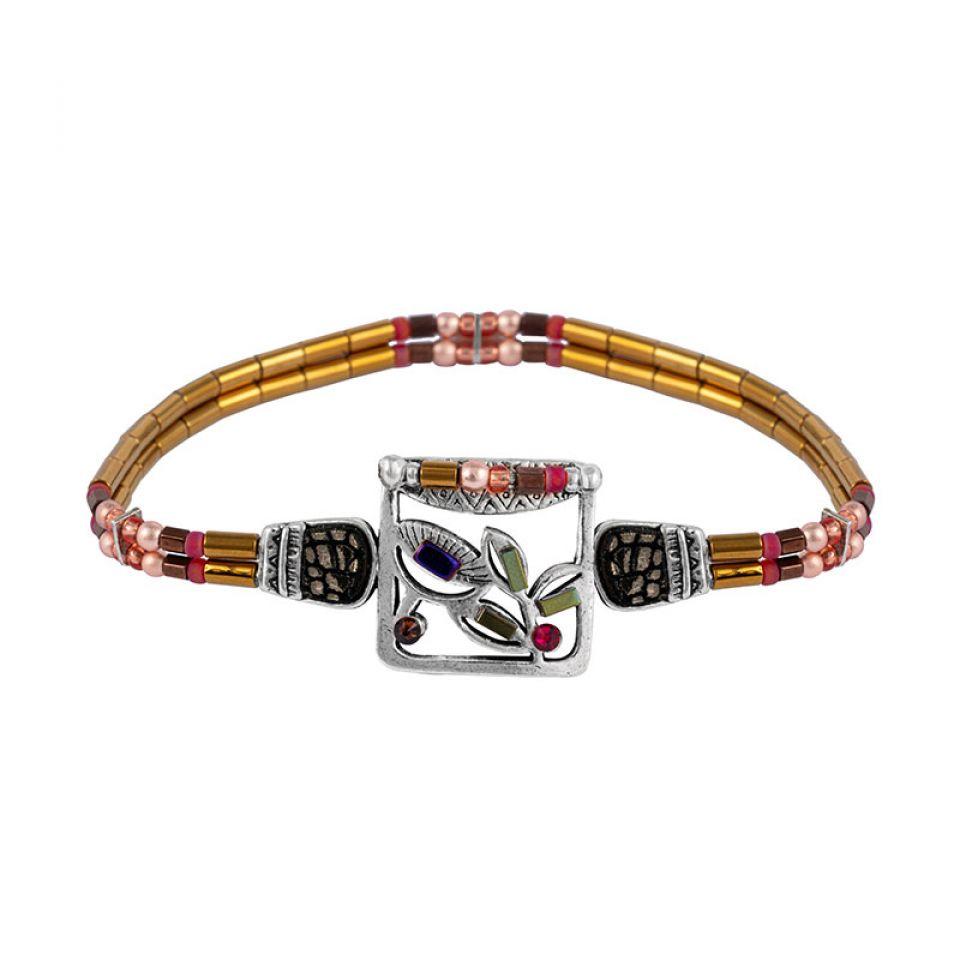 Bracelet Lola Couleur Argent Rose Taratata Bijoux Fantaisie en ligne 1