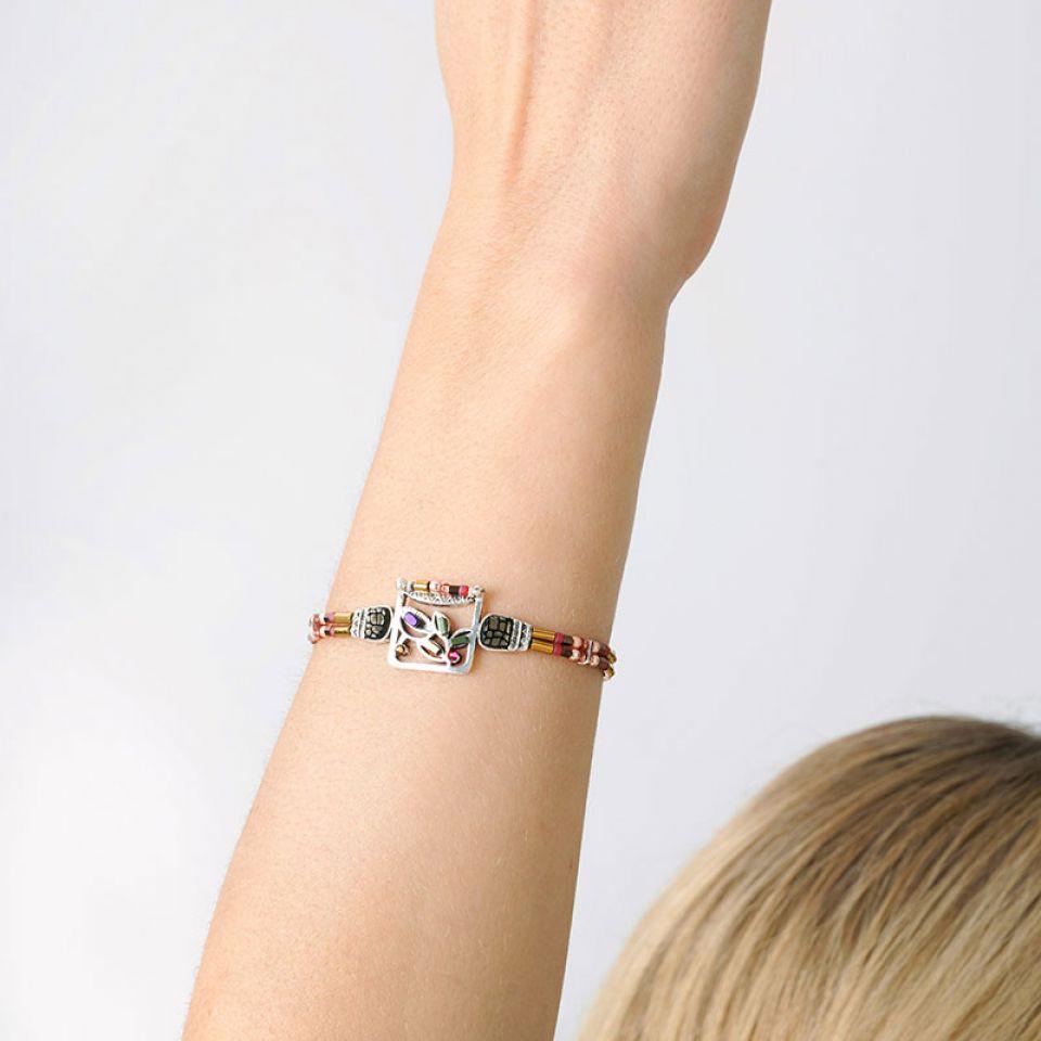 Bracelet Lola Couleur Argent Rose Taratata Bijoux Fantaisie en ligne 2
