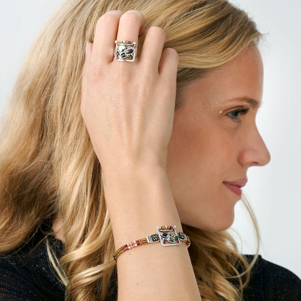 Bracelet Lola Couleur Argent Rose Taratata Bijoux Fantaisie en ligne 3
