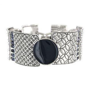 Bracelet Mambo Argent Bleu
