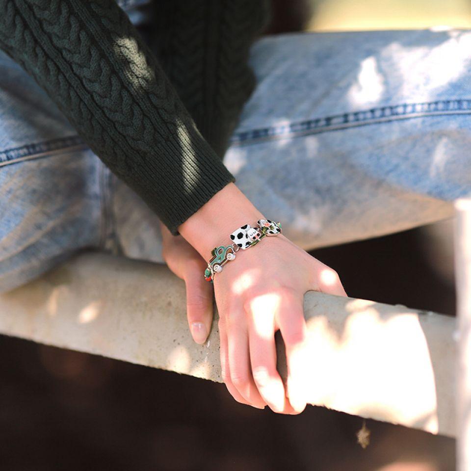 Bracelet Marguerite Argent Multi Taratata Bijoux Fantaisie en ligne 2