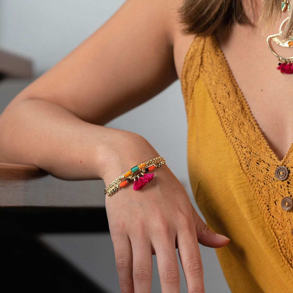 Bracelet Marie-rose Dore Multi Taratata Bijoux Fantaisie en ligne 2