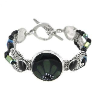 Bracelet Naturellement Argent Noir