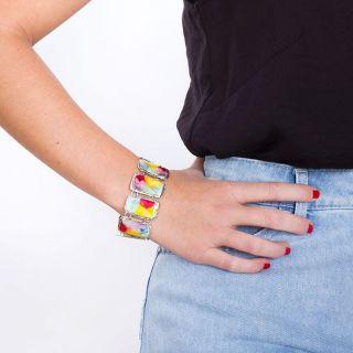 Bracelet Nuages Argent Multi