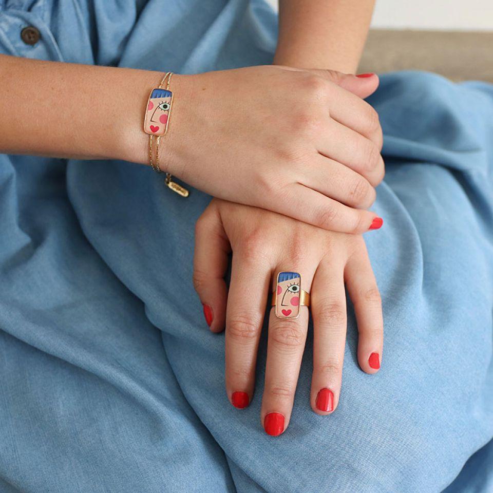 Bracelet Regard Couleur Dore Multi Taratata Bijoux Fantaisie en ligne 2