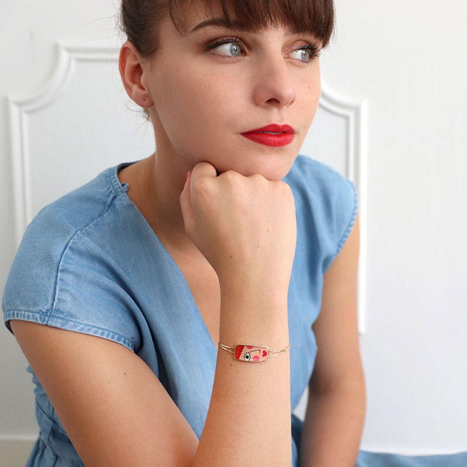 Bracelet Regard Couleur Dore Multi Taratata Bijoux Fantaisie en ligne 1