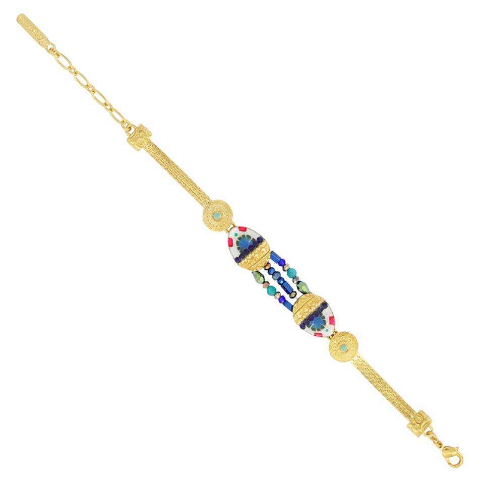 Bracelet Romeo Dore Bleu Taratata Bijoux Fantaisie en ligne 5
