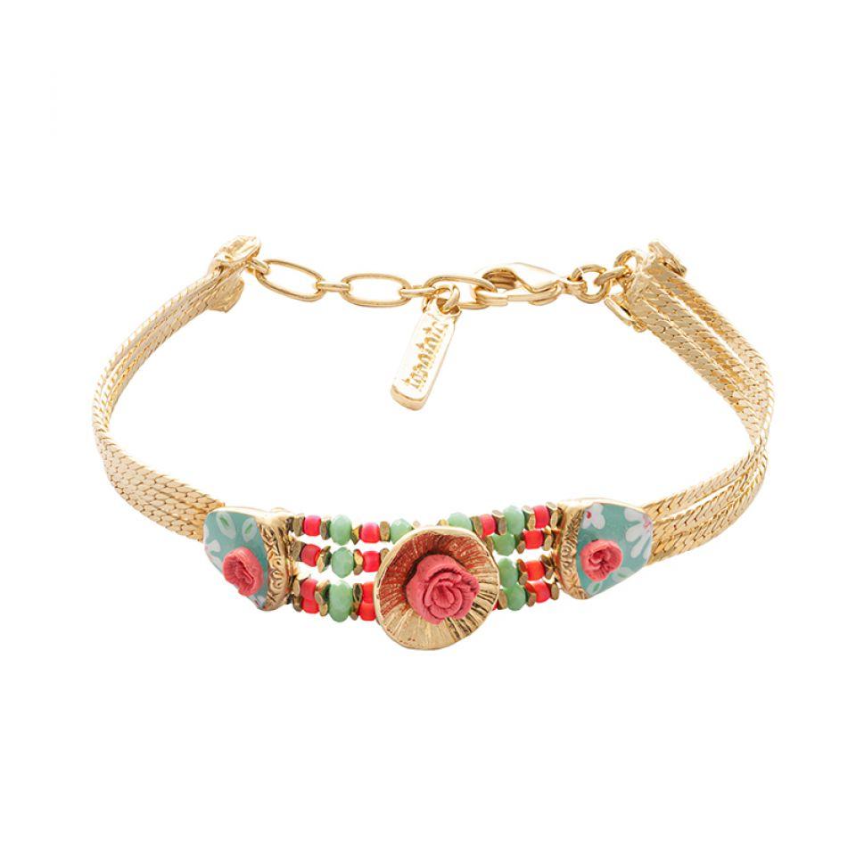 Bracelet Rosalie Dore Multi Taratata Bijoux Fantaisie en ligne 3