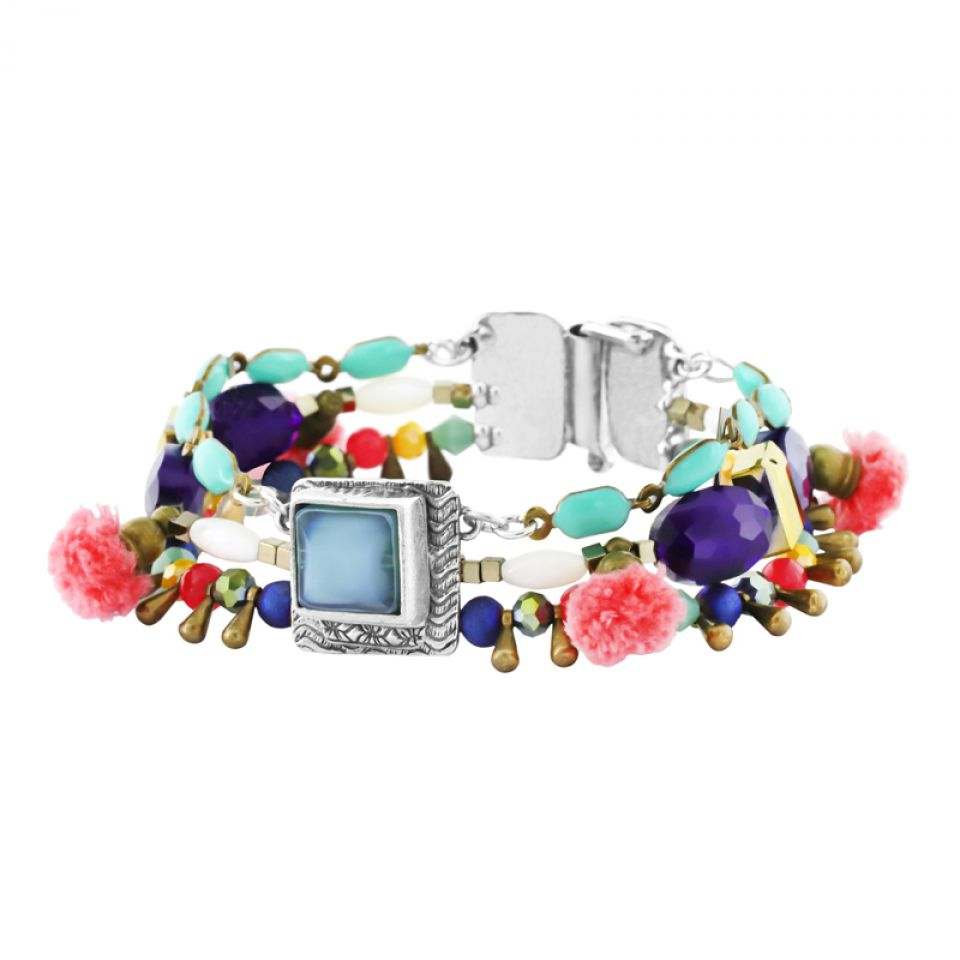 Bracelet Safran Argent Multi Taratata Bijoux Fantaisie en ligne 2