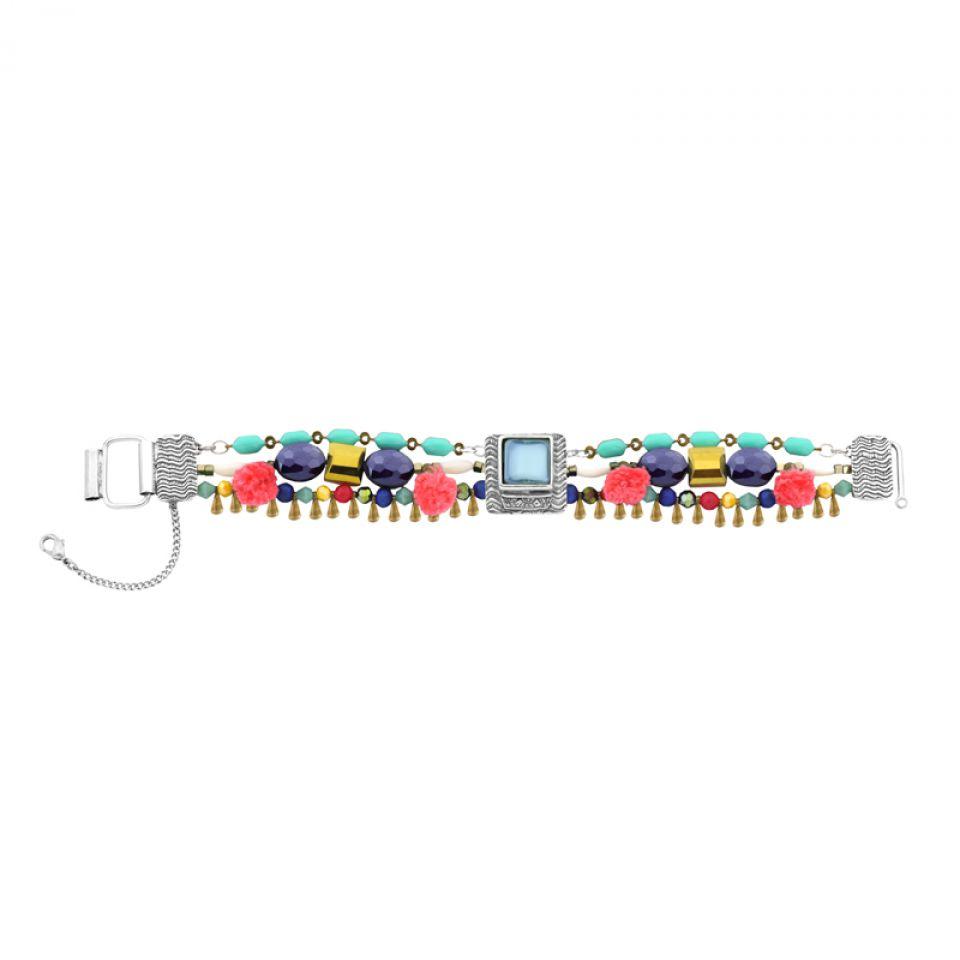 Bracelet Safran Argent Multi Taratata Bijoux Fantaisie en ligne 4