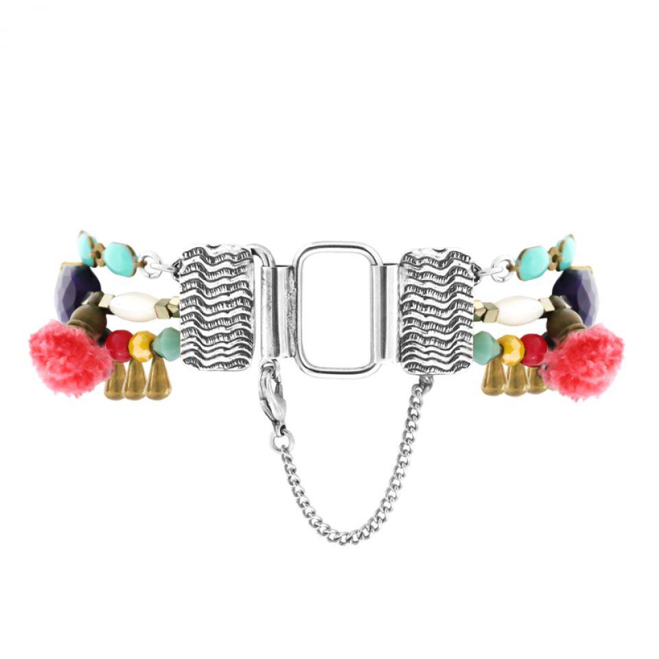 Bracelet Safran Argent Multi Taratata Bijoux Fantaisie en ligne 5
