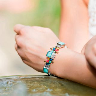 Bracelet Safran Argent Multi