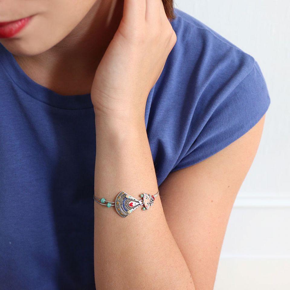 Bracelet Sissi Couleur Argent Multi Taratata Bijoux Fantaisie en ligne 1