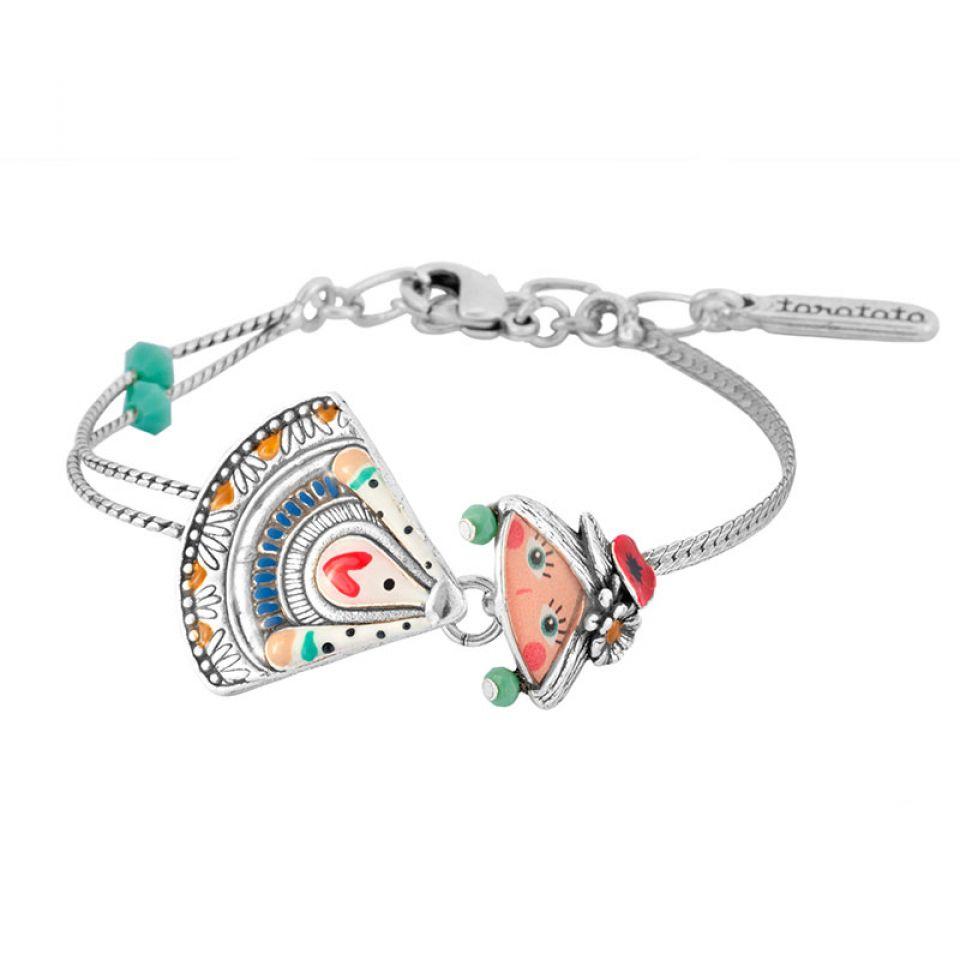 Bracelet Sissi Couleur Argent Multi Taratata Bijoux Fantaisie en ligne 2