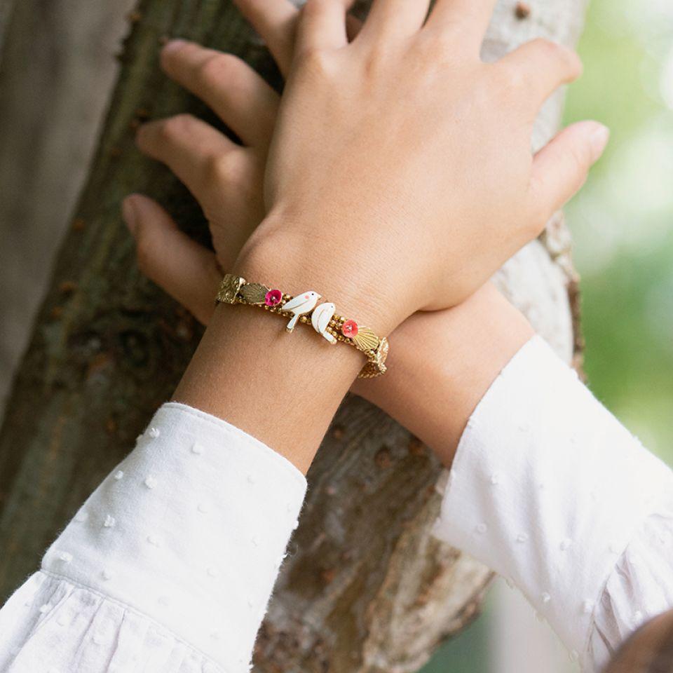 Bracelet Sur La Bouche Dore Multi Taratata Bijoux Fantaisie en ligne 2