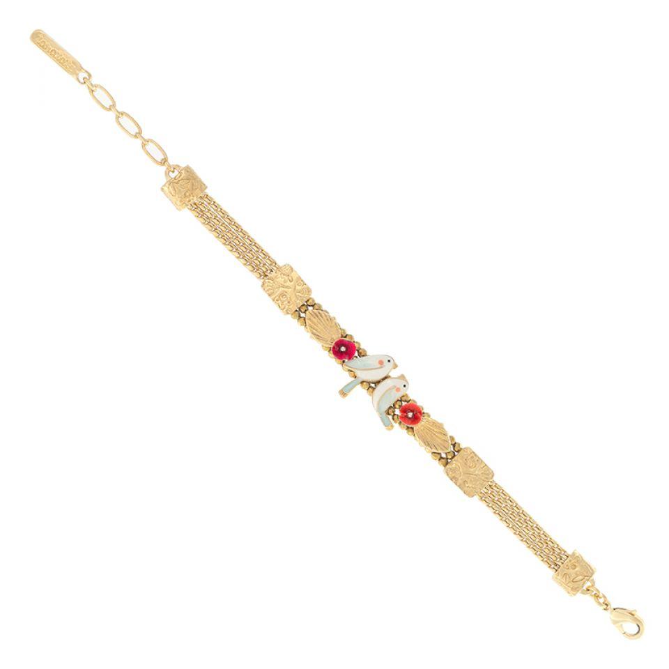 Bracelet Sur La Bouche Dore Multi Taratata Bijoux Fantaisie en ligne 4