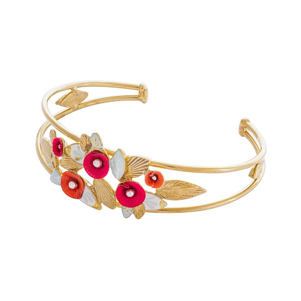 Bracelet Sur La Bouche Dore Multi Taratata Bijoux Fantaisie en ligne 1