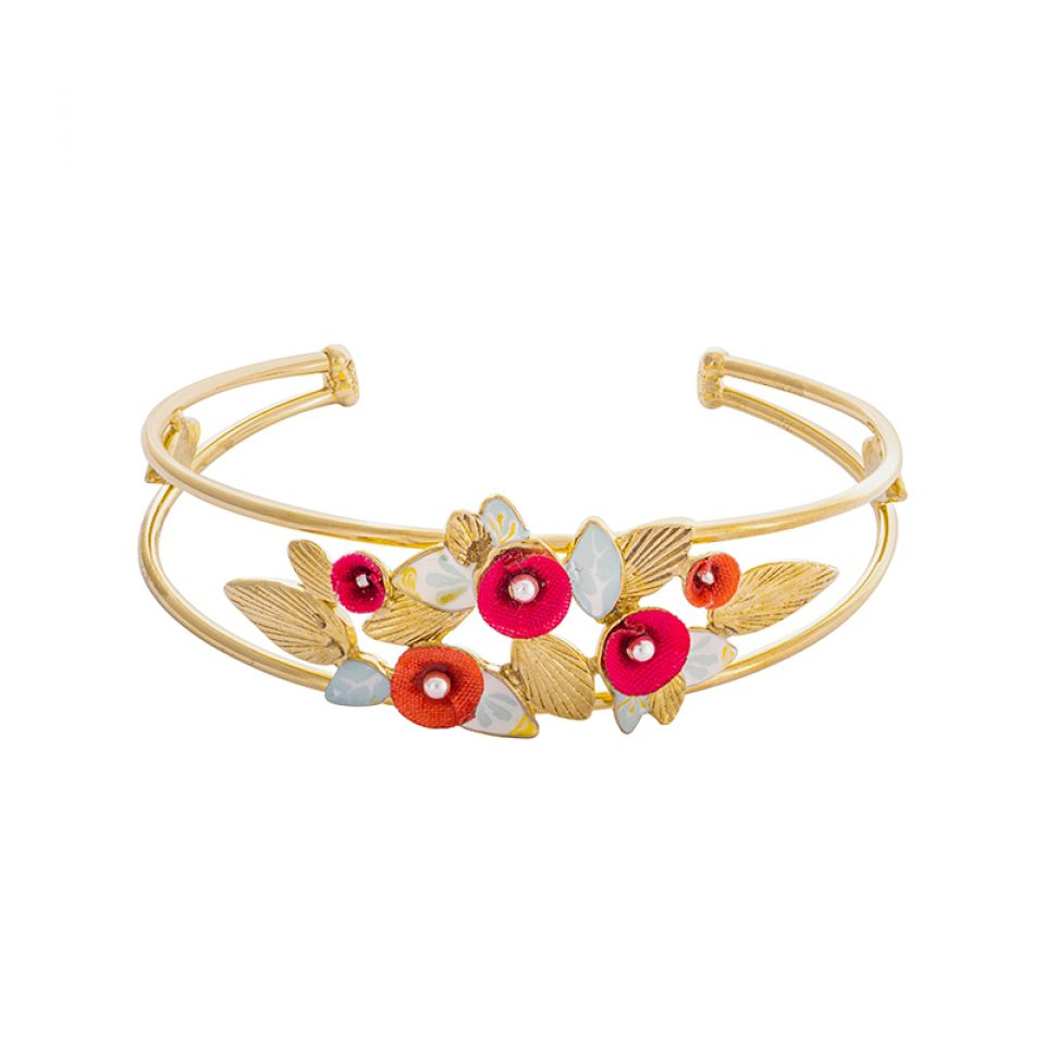 Bracelet Sur La Bouche Dore Multi Taratata Bijoux Fantaisie en ligne 3