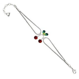 Bracelet Taraboum Argent Rouge