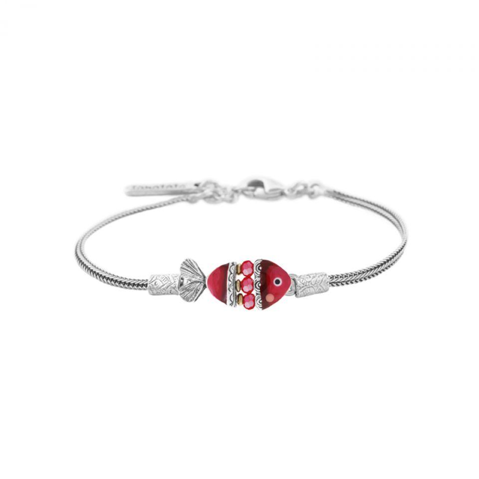 Bracelet Taraboum Argent Rouge Taratata Bijoux Fantaisie en ligne 1